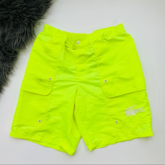 2881390d0 Lacoste Other - Lacoste | Men's neon yellow swim trunks